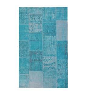 Brix Vloerkleed Patchwork - Turquoise 170 x 240 cm