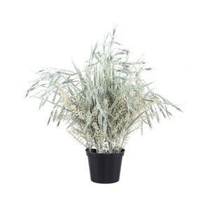 PTMD Kunstplant - Leaves Tarwe Tak Groen