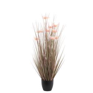 PTMD Kunstplant - Leaves Plant Roze